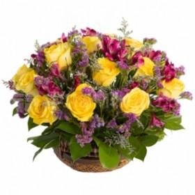 Корзина цветов №301