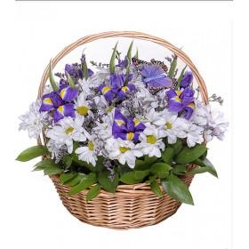 Корзина цветов №302