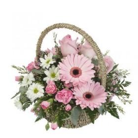 Корзина цветов №257