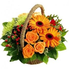 Корзина цветов №262