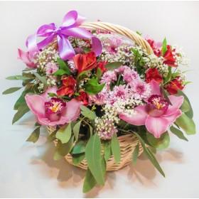 Корзина цветов №256
