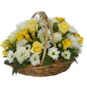 Корзина цветов №250