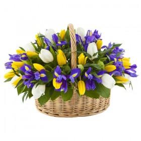 Корзина цветов №252