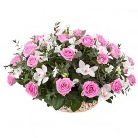 Корзина цветов №253