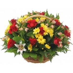 Корзина цветов №255