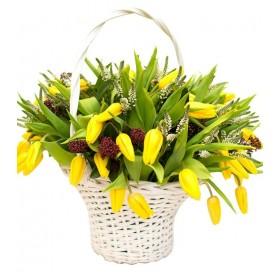 Корзина цветов №259
