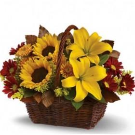 Корзина цветов №260