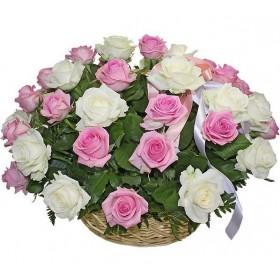 Корзина цветов №267