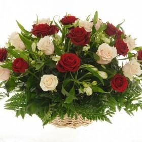 Корзина цветов №269