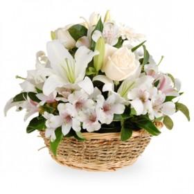 Корзина цветов №270