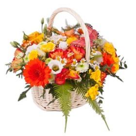 Корзина цветов №275