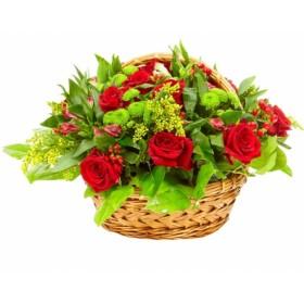 Корзина цветов №277
