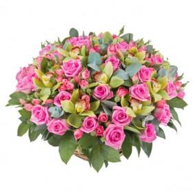 Корзина цветов №279