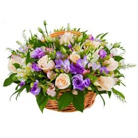Корзина цветов №280