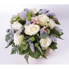 Корзина цветов №283