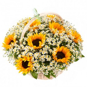 Корзина цветов №285