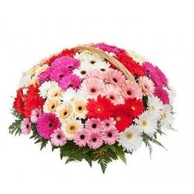 Корзина цветов №295