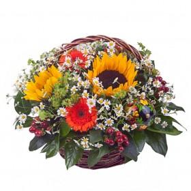 Корзина цветов №297