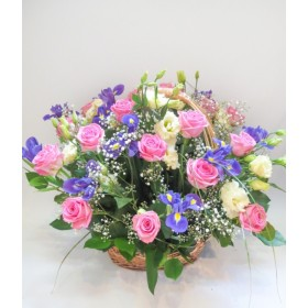 Корзина цветов №293
