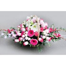 Подарочная корзина цветов Розанна