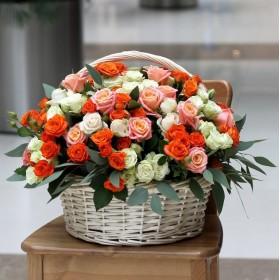Корзина с розами Моя радость