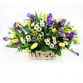 Корзина с цветами Вегас