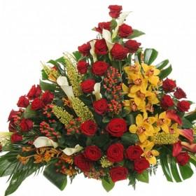 Корзина цветов №298