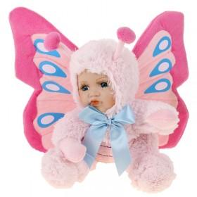 Кукла коллекционная малыш в костюме бабочки