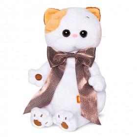 Кошечка Ли-Ли с атласным коричневым бантом
