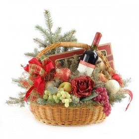 Новогодний набор Вино и розы