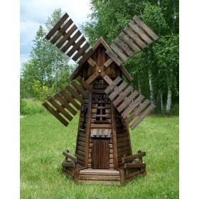 Деревянная мельница Голландия