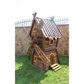Деревянная мельница Леший