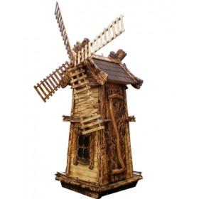 Декоративная деревянная мельница №5