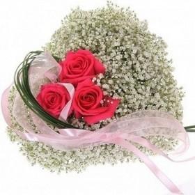 Сердце из цветов №200