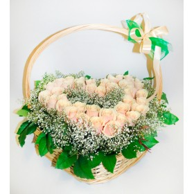 Сердце из  роз Розали