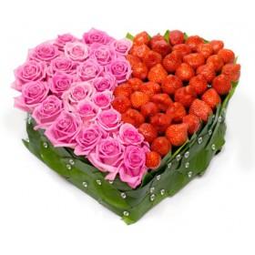 Сердце из роз Вкус любви