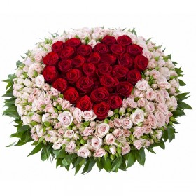 Сердце Розовый куст