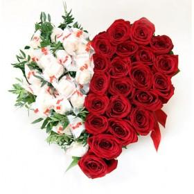 Сердце из роз Вместо слов