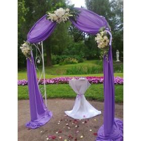 Арка свадебная с розами, лилиями и гортензией №1