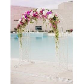 Арка свадебная с розами, орхидеями, гортензией и амарантом №2