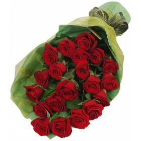 Букет бордовых роз №19