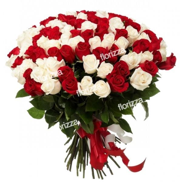 101 роза дешево воронеж